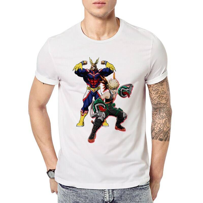 Men Women Boku No My Hero Academia All Might Print Cosplay T Shirt Casual Japanese Anime Short Sleeve T-shirt Summer Tops