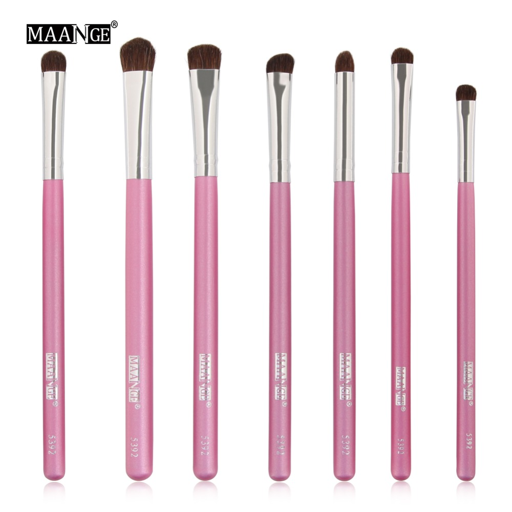 MAANGE Pro Eyes Beauty Makeup Brushes Set Power Eye Shadow Shader Concealer Blending Cosmetic Horse Hair Wooden Brush Tool Kits
