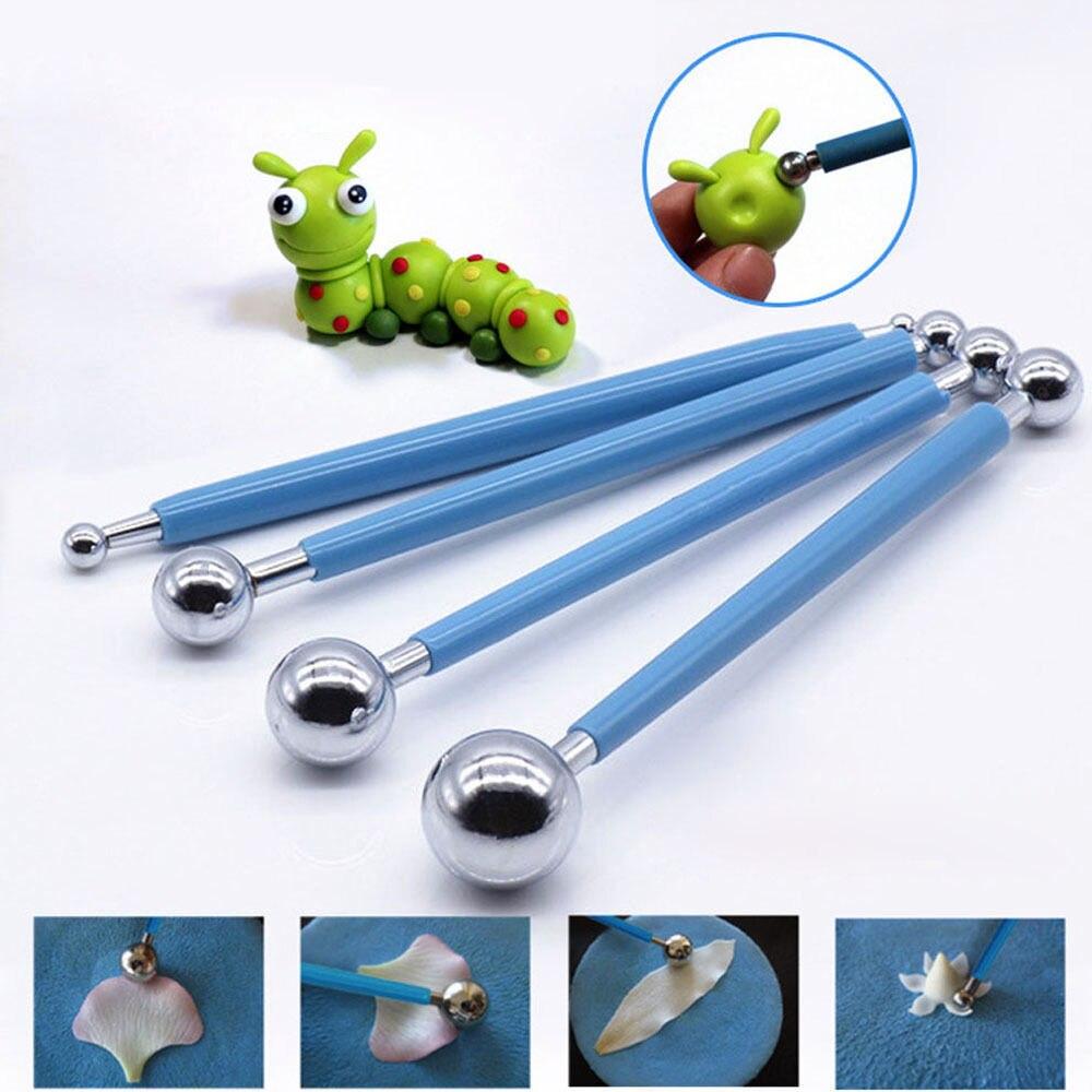 4pcs lillevormid playdough tööriistad polümeer savi polüform Sculpey fondant tööriistade komplekt lastele