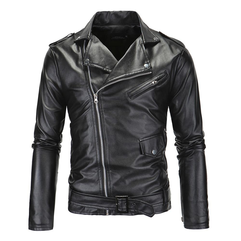 HEROBIKER Vintage Retro Motorcycle Jackets Men PU Leather Jacket Biker Punk Faux Leather Jaqueta Motoqueiro Warm Moto Jacket oblique zipper faux leather biker jacket