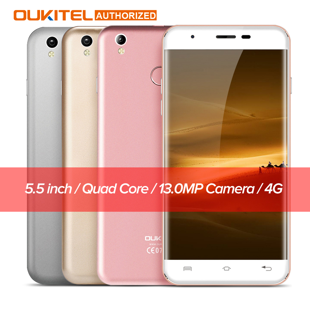Oukitel U7 Plus Android 6 0 5 5 4G font b Smartphone b font MTK6737m Quad