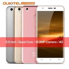 "U7 oukitel além disso android 6.0 5.5 smartphone ""4g mtk6737m Quad Core 1.3 GHz 2 GB RAM 16 GB ROM Fingerprint Scanner Móvel celular"