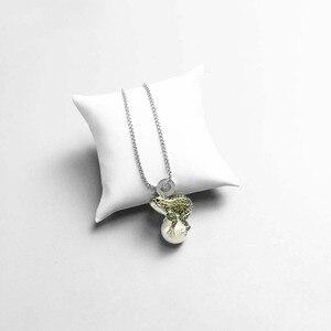 Подвеска в виде лягушки и жемчуга, медвежонок, полярная черепаха, 2019, модные ювелирные изделия из стерлингового серебра 925 пробы, милый подарок для женщин и девушек, подходящее ожерелье