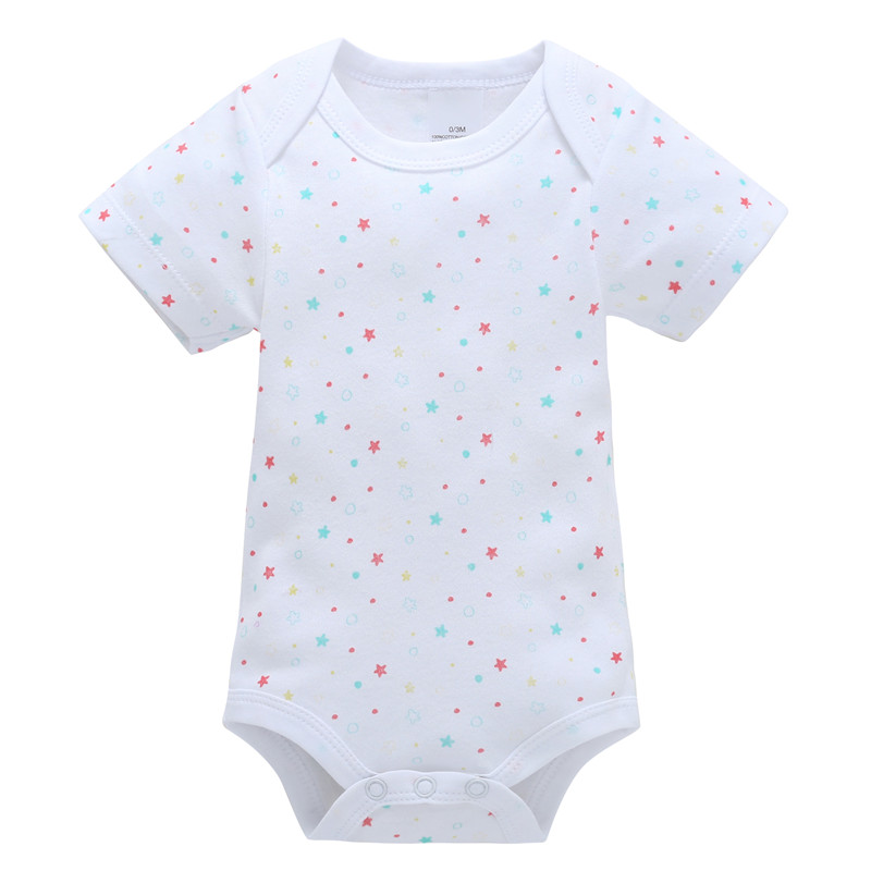 0-12M Newborn Baby Girl Rompers Baby Boy Clothes Cotton Newborn Clothes Summer Playsuit Unisex Jumpsuit Infant Little Stars Dots
