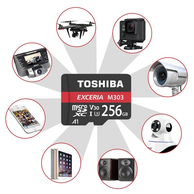 TOSHIBA EXCERIA M303 micro sd Card 256GB 128GB 64GB U3 Class10 4K UltraHD V30 Flash Memory Card 98MB/S A1 SDXC UHS-I New TF Card