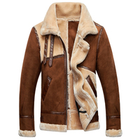 Fashion Vintage Mens Fur Leather Jackets And Coats Old Fashion 2018 Brand Mens Winter Fur Coats