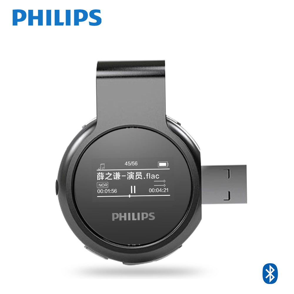 Philips Original Digital Bluetooth MP3-Player USB FM Radio 8GGB - Tragbares Audio und Video