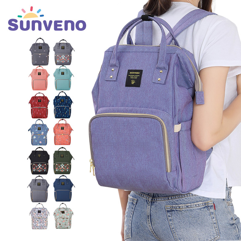 Sunveno Mummy Maternity Diaper Nappy Bag Organize Large Capacity Baby Bag Backpack Nursing Bag for Mother Kids Baby Care unicorn insular 2017 new arrival fashion bohemian style mother bag baby nappy bags large capacity maternity mummy diaper bag 5pcs set