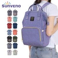 Sunveno Fashion Mummy Maternity Nappy Bag Brand Large Capacity Baby Bag Travel Backpack Designer Nursing Bag