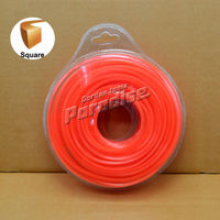 0 095 2 4mm Diamemeter 0 5LB Square Brush Cutter Nylon Grass Trimmer Line Orange Color