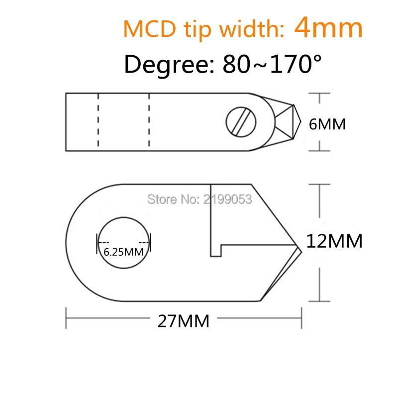 Herramientas de diamante tipo Posalux Corte en V 80 grados ~ 170 - Accesorios para herramientas eléctricas - foto 3