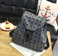 New leisure fashion trend backpack Joker personality geometric pattern diamond backpack laser bag