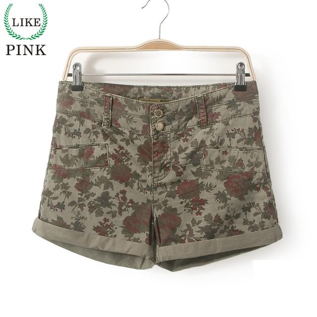 LIKEPINK 2017 Fashion Shorts Women Military Camouflage Print Summer Sexy Short Feminino Pantalon Corto Deporte Mujer S~XL