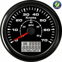 Pack of 1 Marine GPS Speed Indicators 85mm 0 70knots Waterproof Speedometers GPS Speed Mileometers 0 80MPH with Antenna for Ship