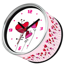 Only 6-10 Days Arrive To USA By E-Packet Air Shipping 2pcs/lot My Heart Desk Clock Valentine Design Fridge Magnets Wall Clock