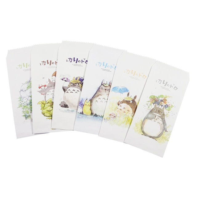 5 pcslot classic japan cartoon totoro aquarelle style envelope for greeting letter wedding birthday