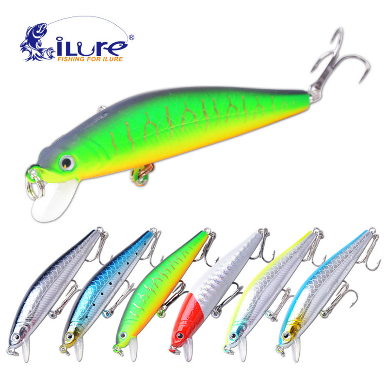 2017 New Good Quality fishing lure Minnow 70mm/6g 0.5-1 Mt Dive Artificial Bait Hard Plastic 3D Eyes wobbler Professional Baits