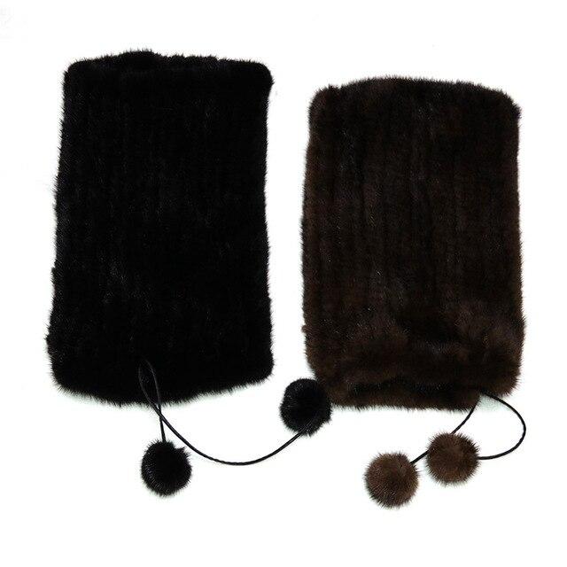 Sombrero gorros casquillo del invierno de las mujeres cuello de piel genuina ocasional del casquillo del sombrero 2016 hot winter fur hats sombrerería femenina sombreros de piel de visón real