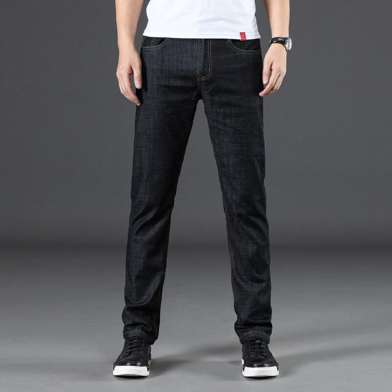 SULEE Brand Jeans 2018 New Mens Elastic Cotton Jeans Fashion Slim Male Biker Large Size 42 Leisure Pants