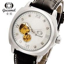 Gucamel fabricantes que venden de gama alta de los hombres fashion business reloj hueco reloj mecánico automático de los hombres reloj automático