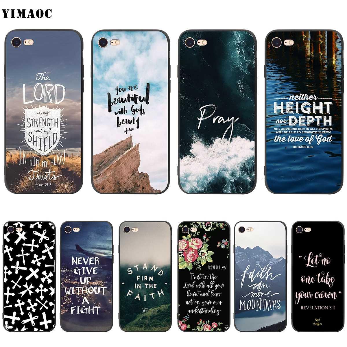 Yimaoc Ayat Alkitab Yesus Kristus Christian Lembut Silikon Case untuk iPhone 11 Pro XS Max XR X 8 7 6 6S PLUS 5 5 S SE