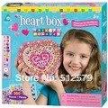 Kingtoy Kids EVA Mosaics Sticky DIYJewelry Box Educational Children handmade Girl Jewelry Box Diy Stickers Toy