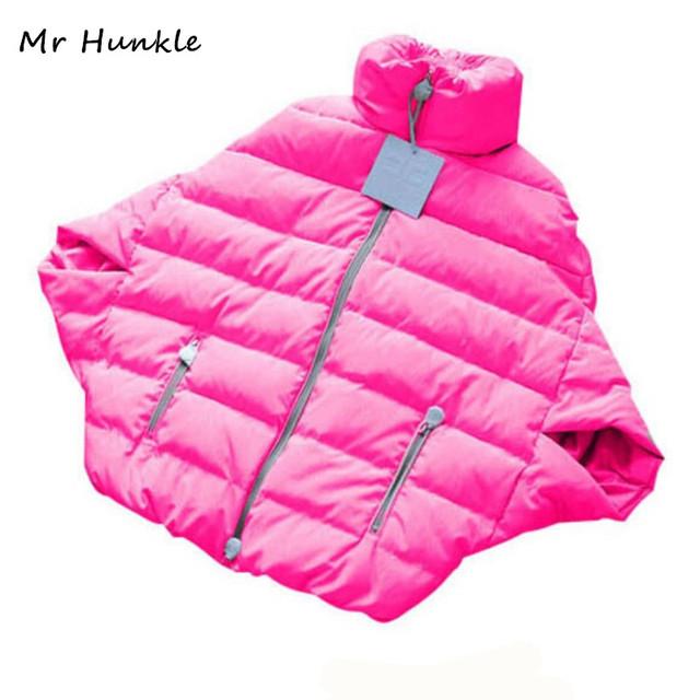 Moda Invierno Cálido Manga Murciélago Mujeres Abajo Parka chaqueta de Algodón-Pad Jacket Outwear Plus Size XL