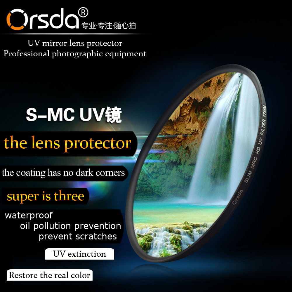 Orsda 37 40.5 43 46 49 52 52 62 62 67 77 82 86mm HD UV फ़िल्टर MRC UV for DJI Sony Pentax Nikon कैनन Canon EOS 650d