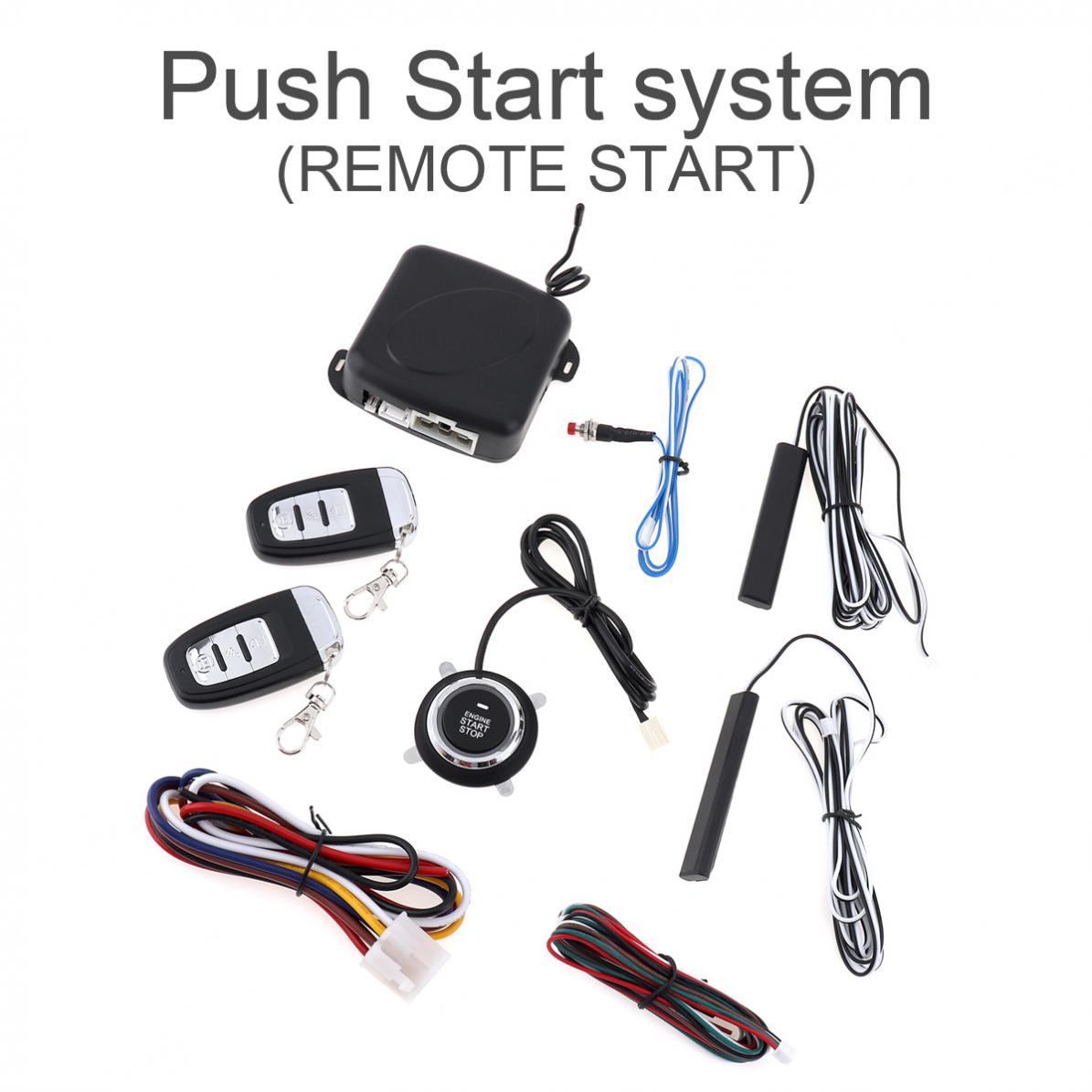 Alarme voiture intelligente moteur Starline bouton poussoir démarrage arrêt RFID serrure interrupteur d'allumage système d'entrée sans clé démarreur système antivol