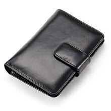 Moxi Женский кошелек из натуральной кожи, Маленький милый короткий деловой держатель для карт, кошелек для кредитных карт, Женский кошелек с застежкой