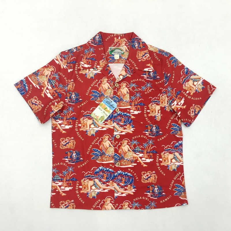 82ead18cc Боб Dong Aloha рубашки Гавайи хула девушка Для мужчин пляжная рубашка  летние шорты рукавом Гавайская рубашка