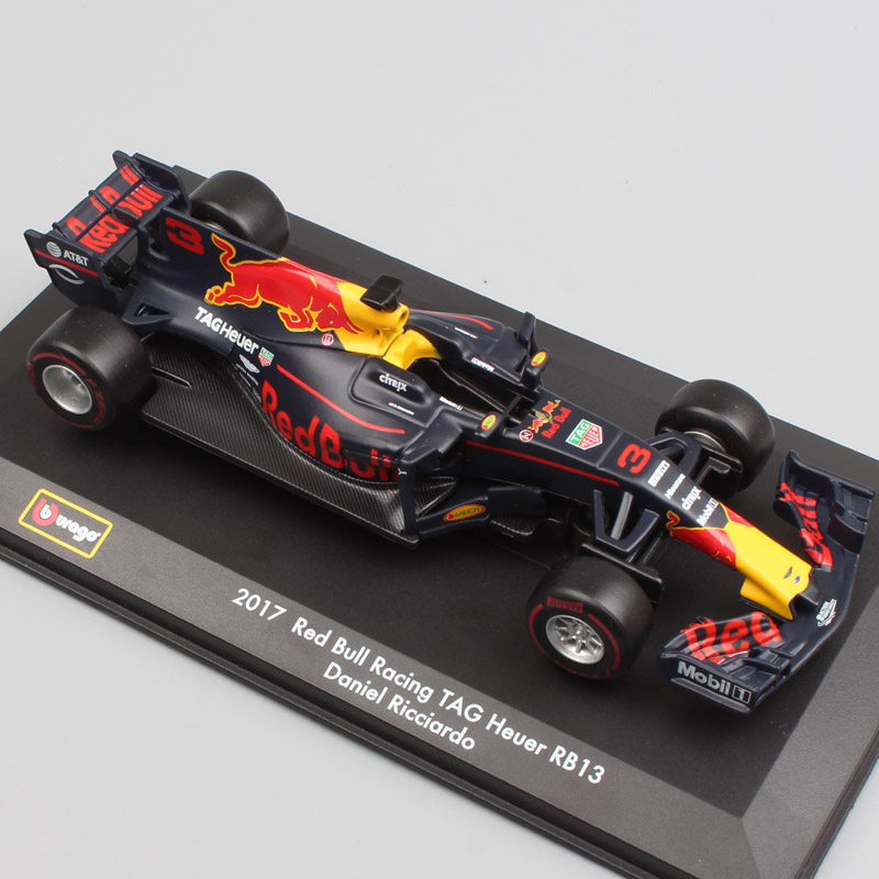 1:32 BBurago Red Bull Racing RB13 No.3 Daniel No.33 Racer Diecasts & Toy Vehicles Miniature Model Scale Cars Kids