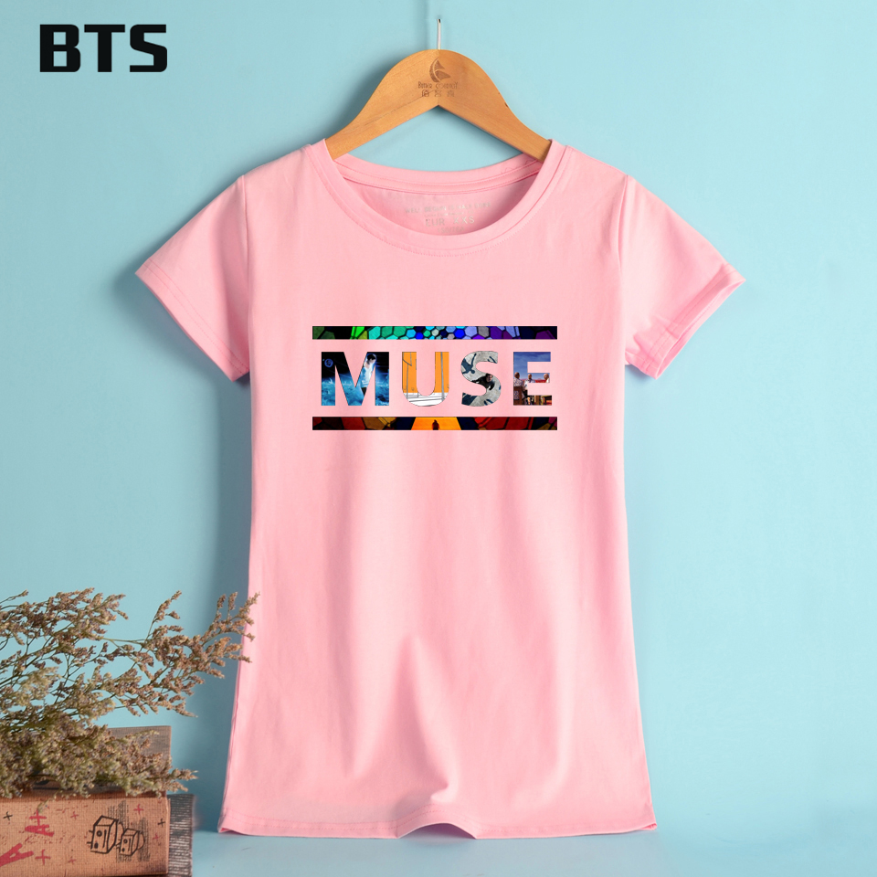 BTS MUSE T shirt Women Summer Plus Size Colorful Letter Printed ...