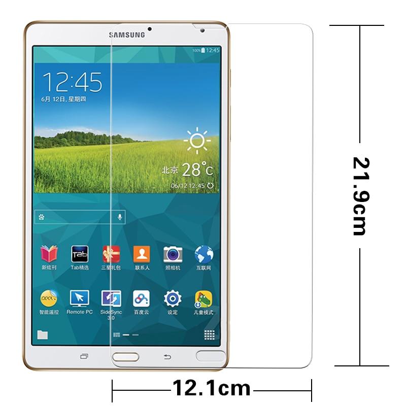 """فیلم محافظ شیشه ای فیلم HD برای تبلت محافظ صفحه نمایش ال سی دی ضد گلکسی سامسونگ Galaxy Tab S T700 T705 8.4 """""""