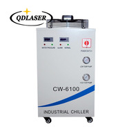 220V CW 6100AH CNC Spindle Water Chiller For Cooling Dual 200W or Single 400w CO2 Laser Tubes
