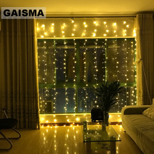 2/3/4/6/8/10 x 2M LED Curtain Lights Christmas Garland Wedding Decorations Fairy Lights Party Home New Year Holiday Lighting