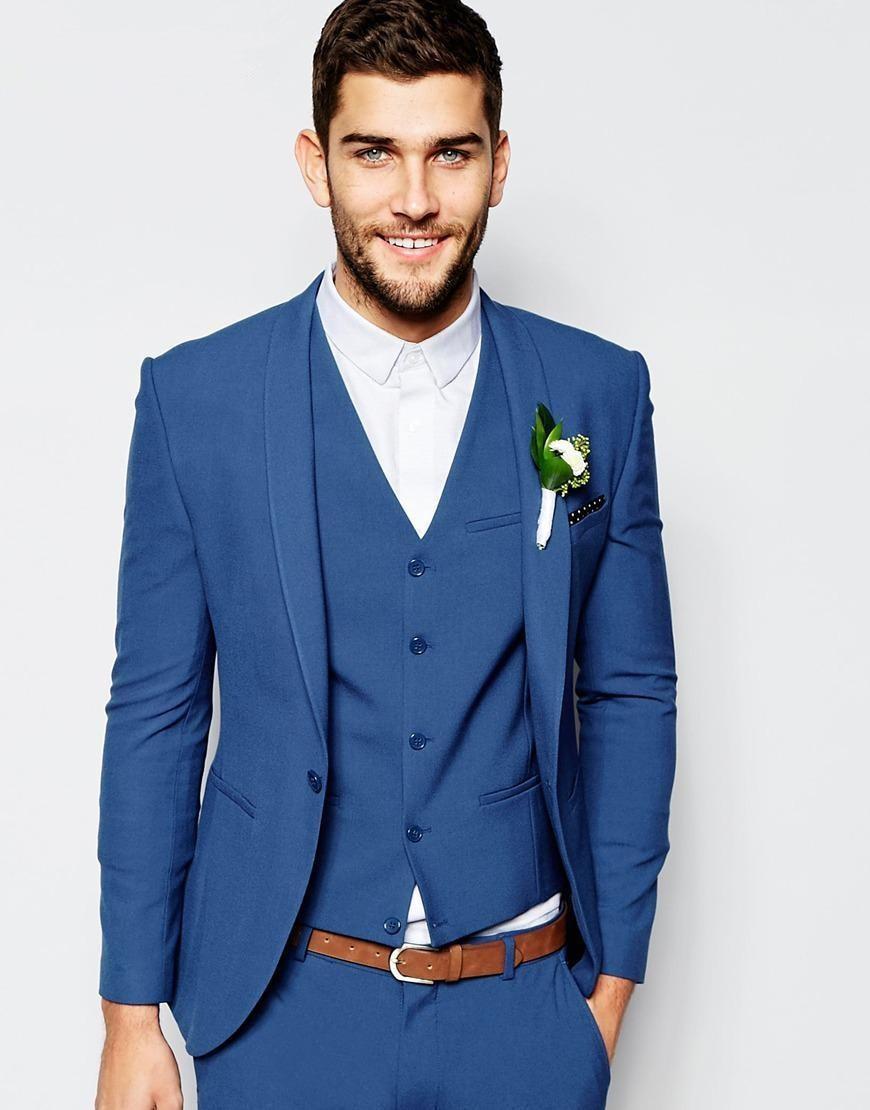 2017 fashion royal blue tuxedos for men elegant men suits daily work wear blazer prom party. Black Bedroom Furniture Sets. Home Design Ideas