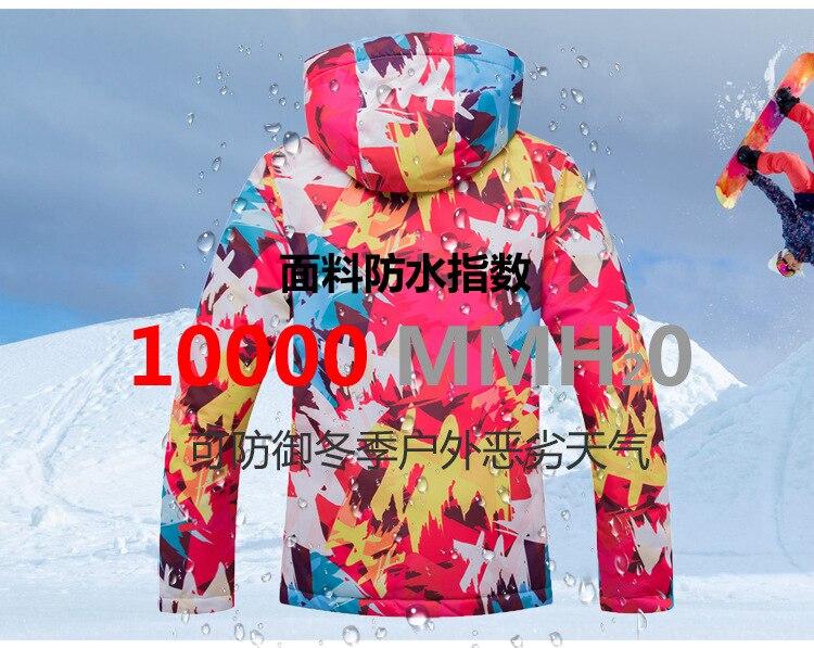 prova dwindproof água conjuntos inverno jaqueta neve