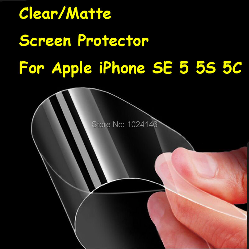 New HD Clear / Anti-Glare Matte Screen Protector For Apple iPhone SE 5 5S 5C Protective Film Guard With Cleaning Cloth