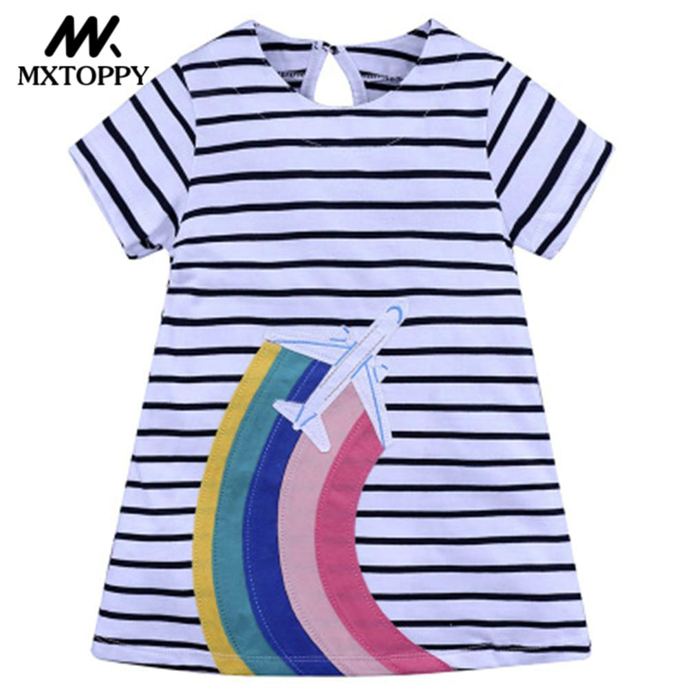 Vestidos Summer Girls Dress 2018 Brand Animal Unicorn Princess Dress For Girls Children Clothing