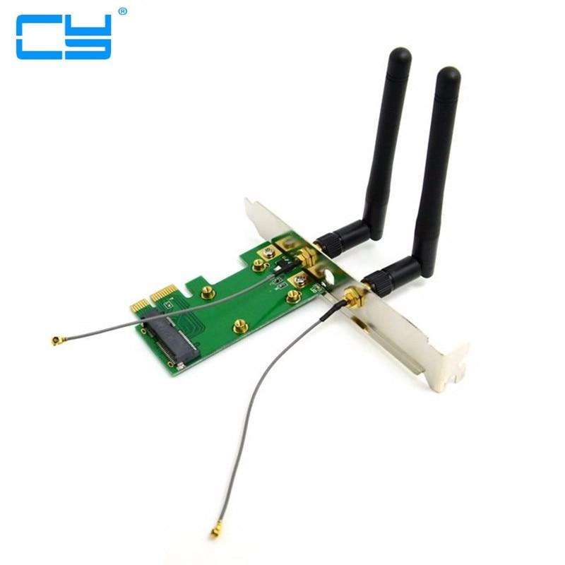 pci-e Mini PCI-E pcie pci express to pcie PCI-E Express Wireless adapter Card with Dual Antennas Network Internet Computer WiFi mini pci express to pci express adapter card with 3 2dbi antennas