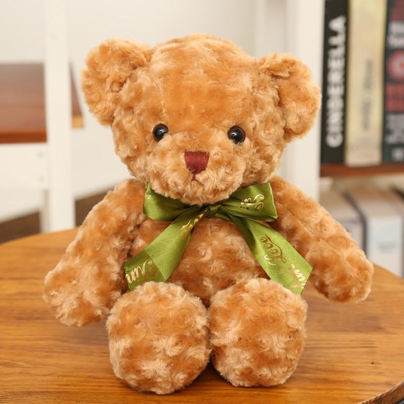 Hot 30CM Kawaii პატარა ჯინსი Teddy Bears Plush - პლუშები სათამაშოები - ფოტო 1