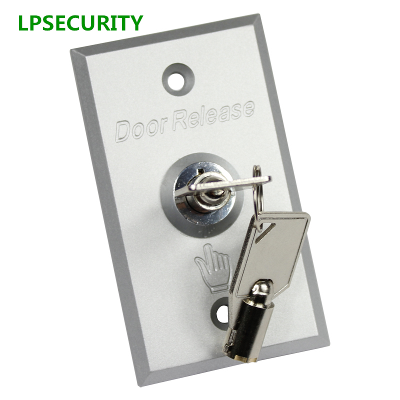 LPSECURITY Door button with keys Metal Exit switch button door release For GATE OPENER electric Lock Access Control system lpsecurity manual push button switch for barrier gates and gate openers commercial garage door opener three button station