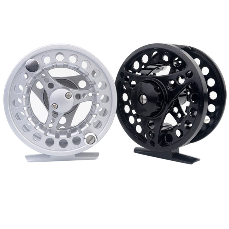 High Quality Fly Fishing Reel 3/4/5/6/7/8 WT Large Arbor Silver/Black Aluminum Fly Fishing Reel A3 Aluminum pesca carretilha a200 steel fishing reel black silver
