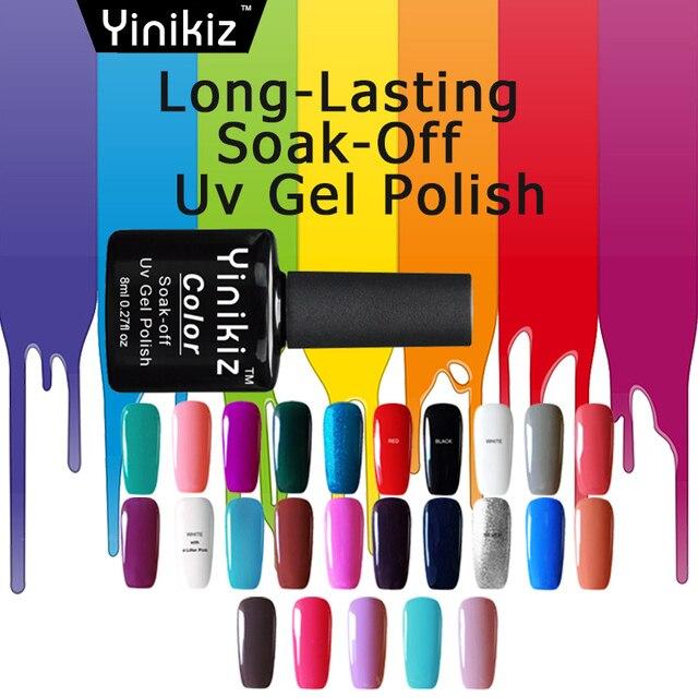 Yinikiz 8ml Natural UV Gel Nail Polish Soak Off Vegan Ingredients ...