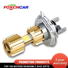 Foxcncar LED H4 COB 6500K Motorcycle Headlights Bulb 12V 24V Motorbike Bike Moped Scooter Outdoor Lighting Hi-Lo lights Fog Lamp(China)