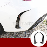 For Benz CLA C117 W117 CLA45 AMG Black Rear Bumper Spoiler Air Vent Trim Cover 2013 2018 2pcs