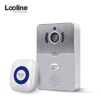 Looline Wifi Wireless Doorbell Camera Peehole Video Intercom Door Phone Night Vision IP Alarm Speakerphone Monitor