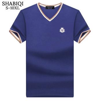 SHABIQI klasyczna marka koszula męska męska koszulka Polo męska koszulka Polo z krótkim rękawem T projektant koszulka Polo Plus rozmiar 6XL 7XL 8XL 9XL 10X tanie i dobre opinie COTTON Na co dzień Stałe REGULAR Plus size Haft Classic 93 5 S M L XL 2XL 3XL 4XL 5XL 6XL 7XL 8XL 9XL 10XL summer White Royal Blue Green Yellow