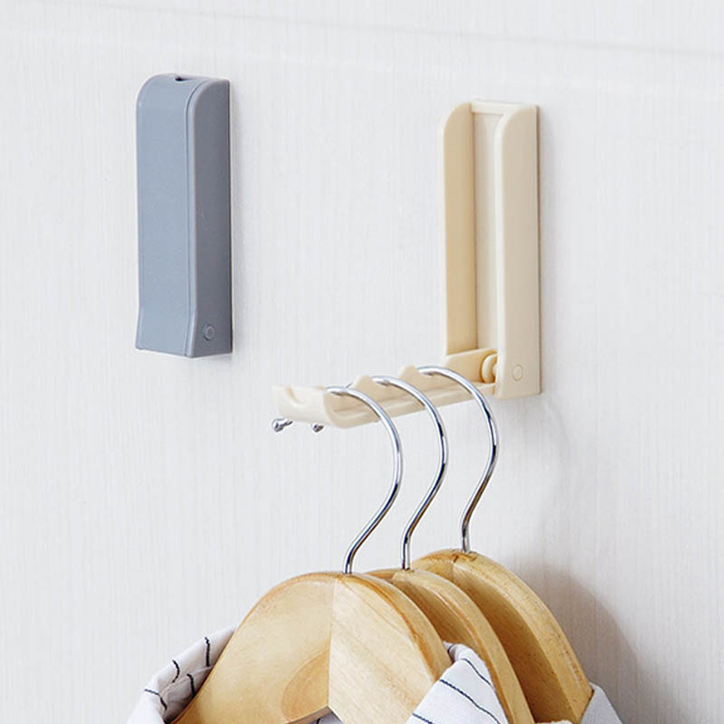 Storage Holders Invisibility Sucker Hanger Foldable Hanging Self Adhesive Traceless Supplies Accessorie Hook Up Door Hook Hanger